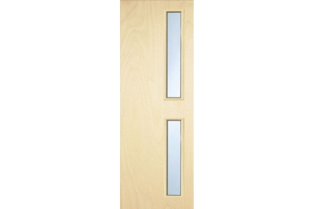 Internal Plywood Flush 30 Min Fire Glazed Door 16 g Glazed Georgian 2040 mm x 926 mm x 44 mm