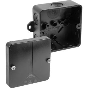 Ced Moulded PVC Box IP65 Black 80 x 80 x 50mm