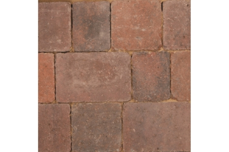 Bradstone Woburn Rumbled Concrete Block Paving Brindle 134x134x50mm