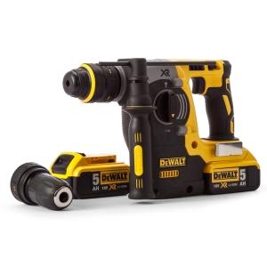 DeWalt 18V Xr Brushless SDS Hammer with 2 x 5AH Batteries DCH274P2-GB
