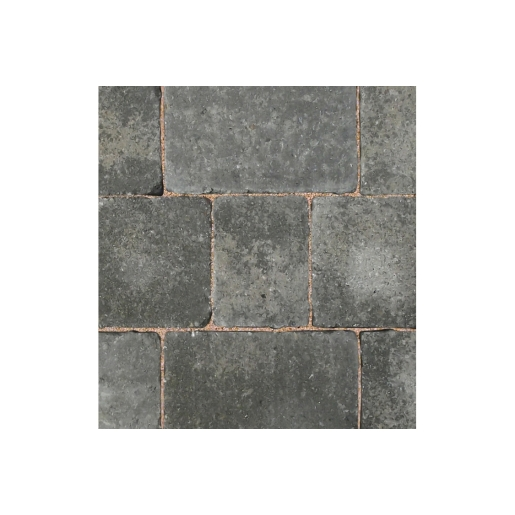 Bradstone Woburn Rumbled Concrete Block Paving Graphite 134mm x 134mm x 50mm Pack of 504