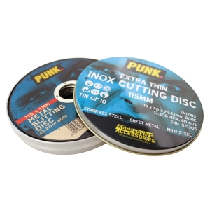 Punk Thin Cutting Discs Tin Includes 10 Discs