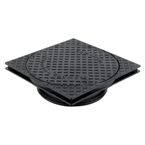 Osma 250mm Shallow Inspection Chamber Square Cover and Adjustable Frame 4D961