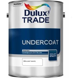 Dulux Trade Undercoat Paint Brilliant White 5L