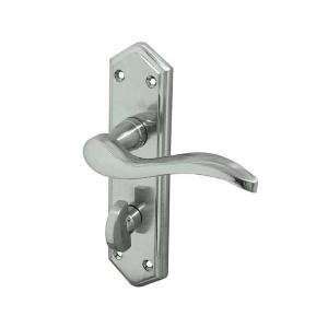 Frelan Hardware Jedo JV283SC Paris Bathroom Lever Handle Set Satin Chrome