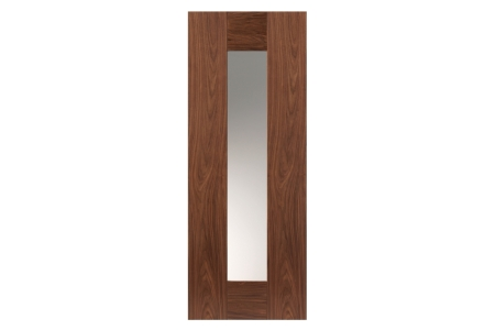 Jb Kind Walnut Axis Prefinished Glazed Internal Door 35 x 1981 x 686mm
