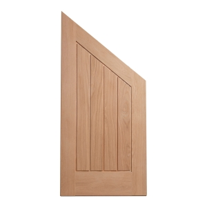 Custom Size Angled Mexicano Internal Oak Veneer Hardwood Core Maximum Size 1400 x 850 x 35mm