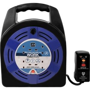 Masterplug 4 Socket RCD 13A Case Cable Reel 20m 240V
