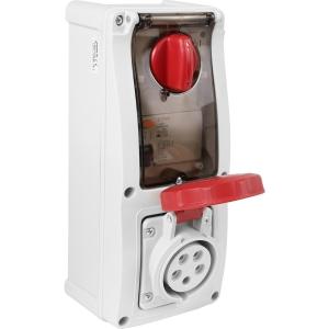 Famatel Uk Ltd Industrial RCD Socket IP67 415V 16A 30mA 3PN+E Switched