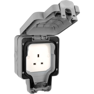 MK IP66 Masterseal Plus Sockets 13A 1 Gang Unswitched Socket