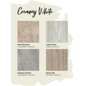 Multipanel Neutrals Bathroom Wall Panel Unlipped Creamy White 7934