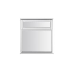 JELD-WEN Stormsure White Timber Window 2 Panel Top Opening 910 x 895mm