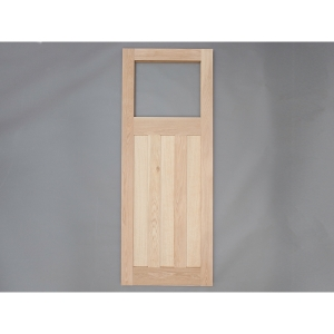 Heritage Solid Oak Custom Size 1930'S Glass Opening External Door