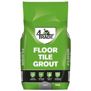 4Trade Floor Tile Grout Grey 5kg