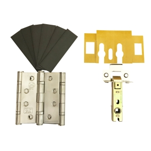 Firestop Fire Door Grade 13 Hinge & Latch Pack Stainless Steel