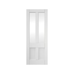 4 Panel Clear Glazed Primed Interior Deco Door