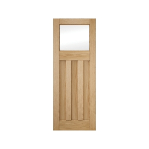 Jeld-wen 3 Panel Clear Glazed White Oak Interior Door 1981x610mm