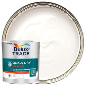Dulux Trade Quick Dry Gloss Paint Pure Brilliant White
