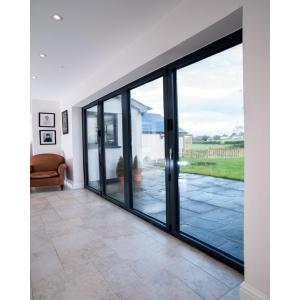 "Vista Aluminium Bifold Door, 28mm Sealed Unit with 4mm Toughend Glass Grey Exterior & White Interior Finish"""