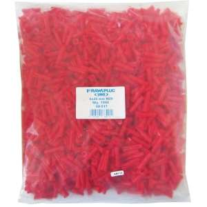 Rawlplug Plugs bag of 1000 - Red