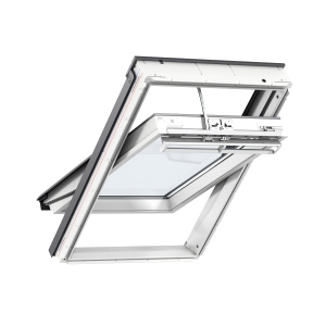 VELUX INTEGRA Electric Centre Pivot Roof Window White Painted 550mm x 980mm