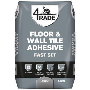 4Trade Flexible Fast Set FLOOR+WALLTILE Adh Grey 20kg