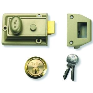 Nightlatch Enb/P Brass Yale P77-ENB-PB-60