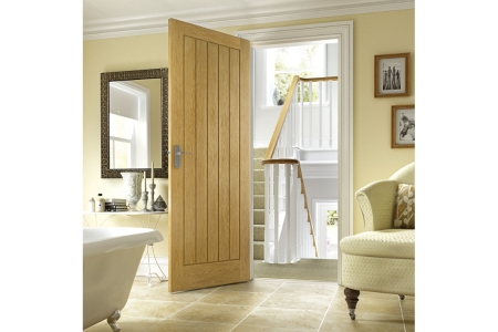 Internal Suffolk Oak Door 1981 mm x 838 mm x 35 mm