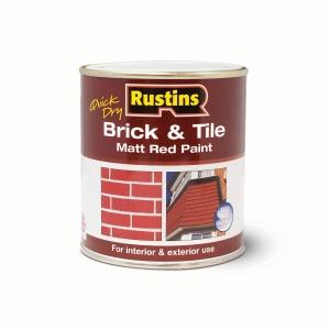 Rustins Brick & Tile Paint Matt Red 500ml