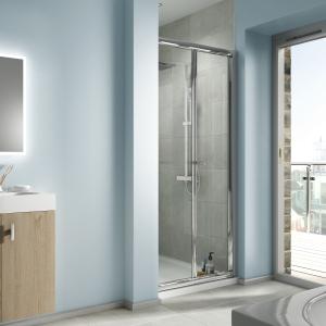 Bathrooms By Tp Edessa BI-FOLD Shower Enclosure Door 900mm