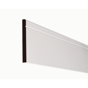 MDF Architrave Square/Bevelled with V Groove White Painted 18 x 69mm 2.44m