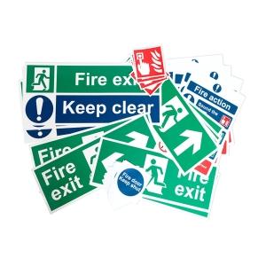 Spectrum Fire Safety Self Adhesive Signage Pack Medium