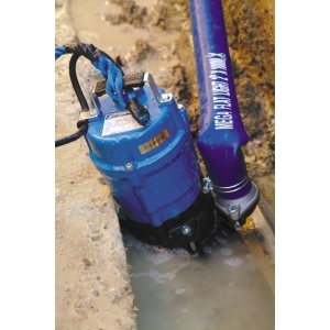 Tsurumi HS2.4S 110V Submersible Automatic Pump with 2in 6m Layflat Hose