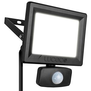 Luceco 30W LED Floodlight PIR Black 2400LM IP65