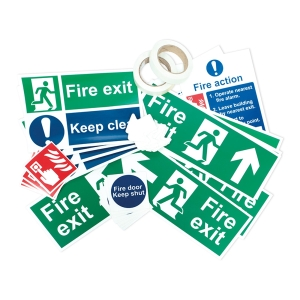 Spectrum Fire Sign Self Adhesive Photoluminescent Signage Pack