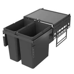 Vauth Sagel Envi Space Pull Out Bin 1 x 21 Litre & 1 x 28 Litre - For 500 Fascia