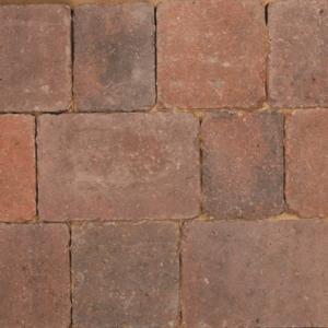 Bradstone Woburn Rumbled Concrete Block Paving Brindle 200mm x 134mm x 50mm