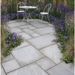 Natural Paving Indian Sandstone Project Pack Grey 15.8m2