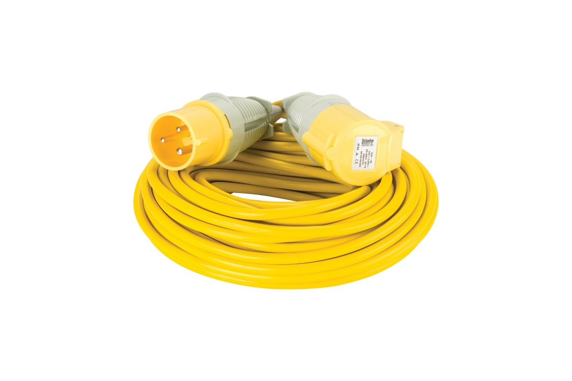 Defender 110V 32A 2.5mm 14m Yellow Arctic Extension Lead