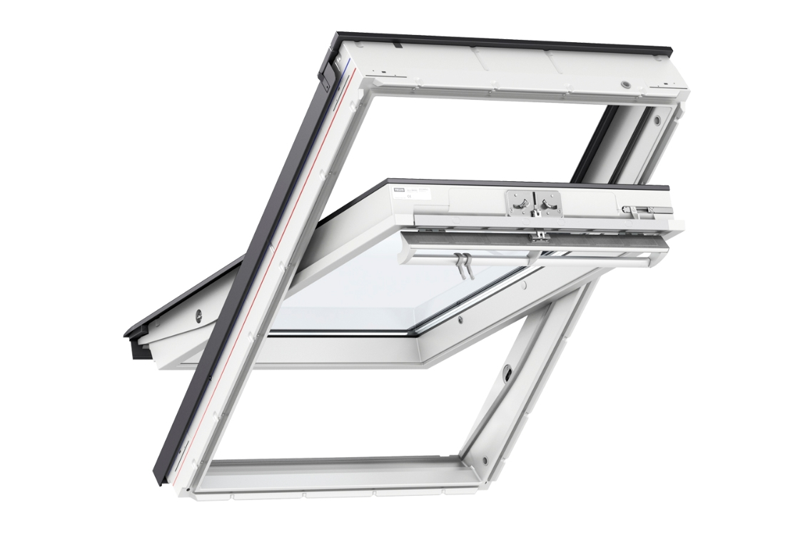 VELUX Centre Pivot Roof Window 940mm x 1400mm White Polyurethane GGU PK08 0066