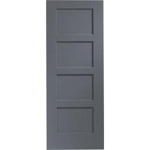 Internal Fully Finished Shaker 4 Panel Door (Cinder)