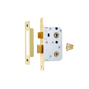 4Trade Mortice Bathroom Lock 64mm Brass