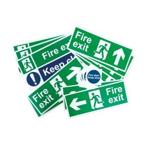 Spectrum Fire Exit Signage Pack Rigid PVC Small