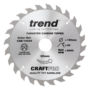 Trend Craft Saw Blade 190mm x 24T x 30mm