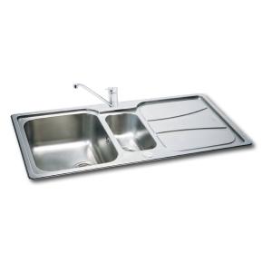 Carron Phoenix Zeta 1.5 Bowl Inset Stainless Steel Kitchen Sink