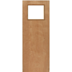 External Plywood Flush Fire Door 30 Min Glazed 1981 x 838 x 44mm
