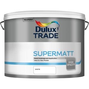 Dulux Trade Supermatt Emulsion Paint White 10L