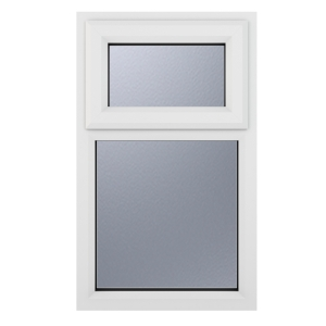 Crystal White Upvc Casement Obscure Window 2P Top Opening 610 mm x 1040 mm