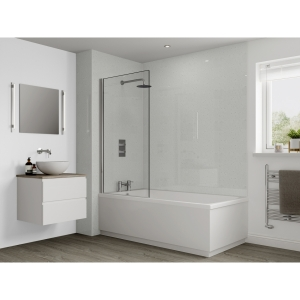 Multipanel Classic Bathroom Wall Panel Unlipped White Snow 3308