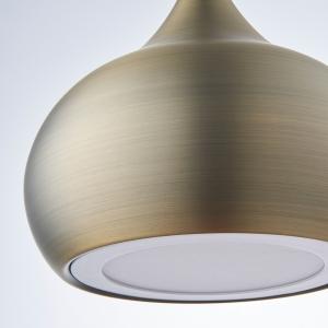 Endon Brosnan Pendant Light Antique Brass ED-61299